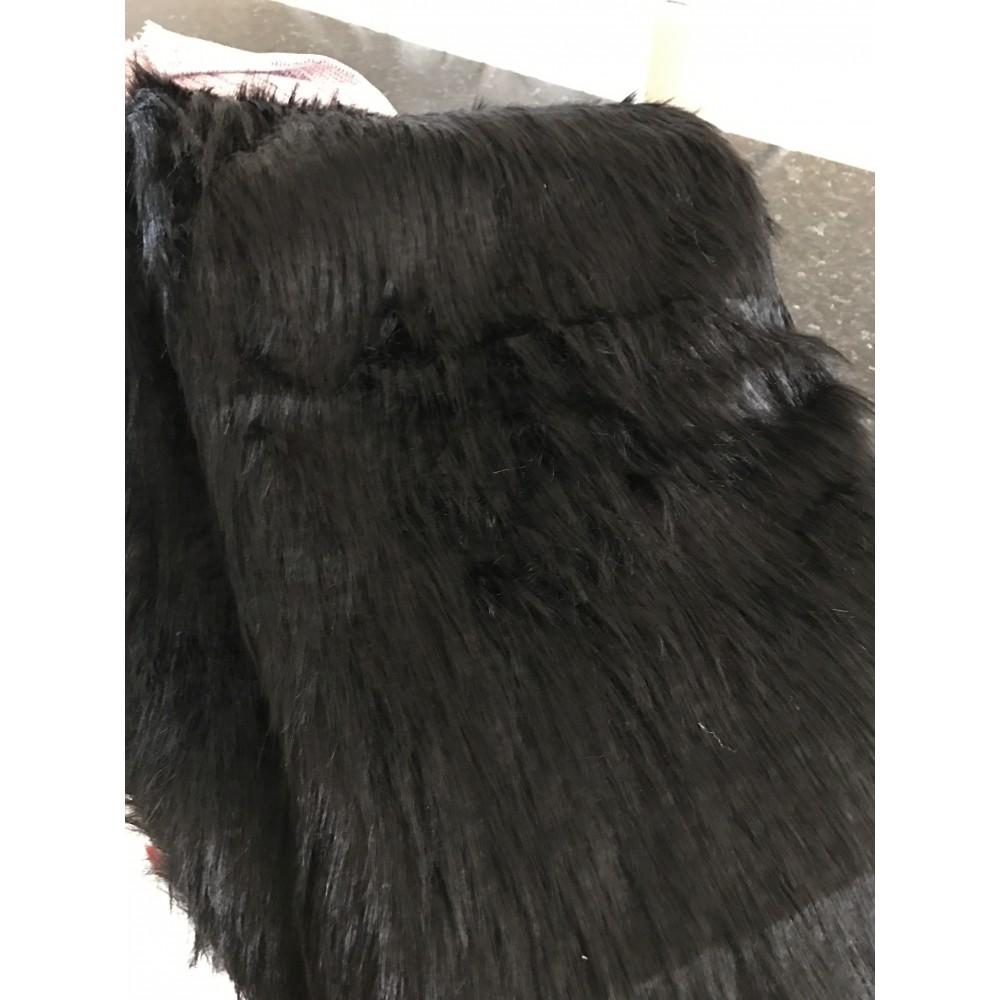 fausse fourrure noir en 150 cm de laize environ. Black Bedroom Furniture Sets. Home Design Ideas