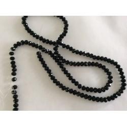 Perle en cristal à facette noir 4 mm
