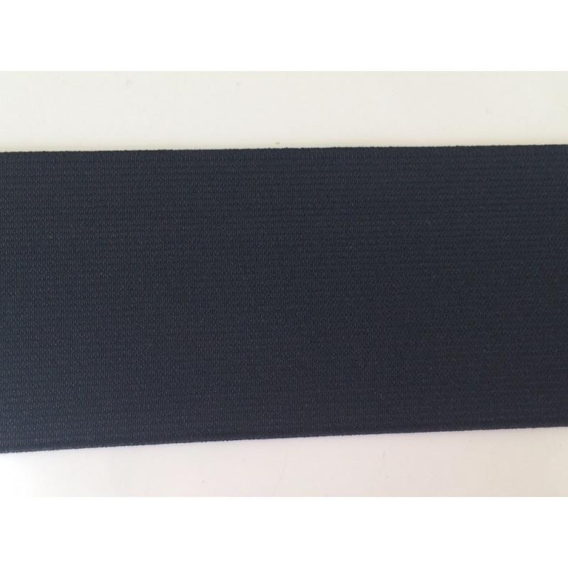 Ruban elastique noir 6 cm
