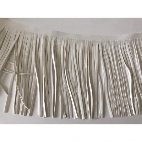 Frange blanc cassé simili cuir de face 15 cm de largeur