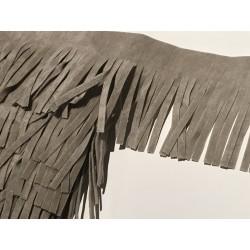 Frange en suédine de 5 cm de largeur couleur gris