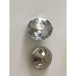 Bouton en cristal ameublement 3 cm