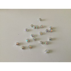 Strass sertie 6 mm