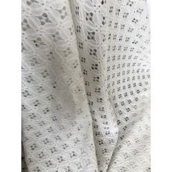 Tissus en dentelle mélange de coton