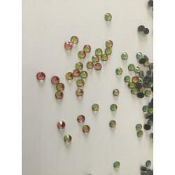 Strass rose vert en cristal 4 mm