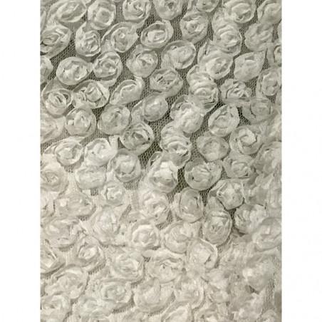 Tissus en 3 D a fleur en relief