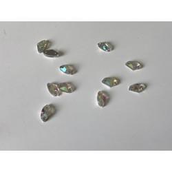 Strass AB a coudre 5*10 mm en cristal