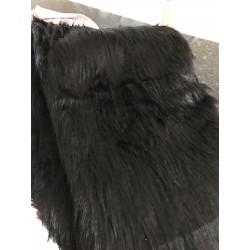 Fausse fourrure noir