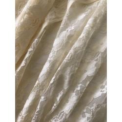 Tissus dentell elasthane  beige