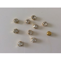 Strass serti cristal 3 d doree