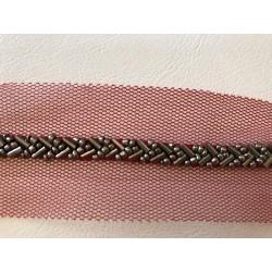 Galon brodé de perle