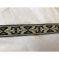 10 m Galon medievale 3,5 cm noir et doré