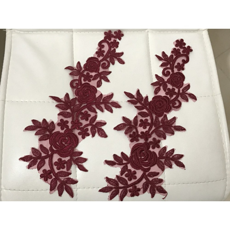 Applique bordeaux
