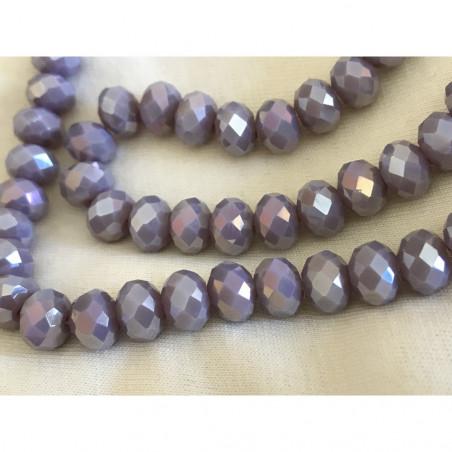 Perle en cristal a facette de 8 mm