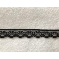 Dentelle noir de 2,5 cm