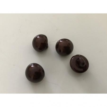 Bouton nacré 8 mm marron