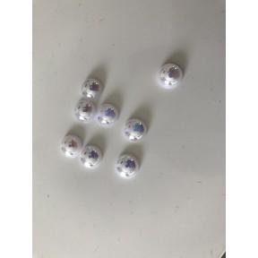Demi perle blanc 10 mm