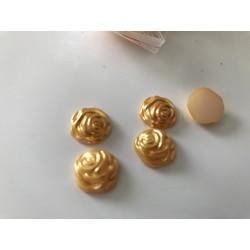 Demi rose en perle de 12 mm
