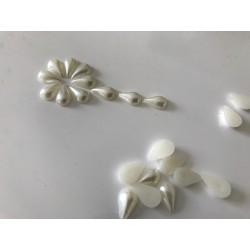 Demi perle forme de goutte 12*7 mm