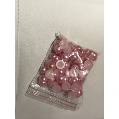 Demi perle 10 mm rose