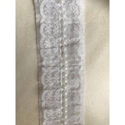 Ruban plissé perlé
