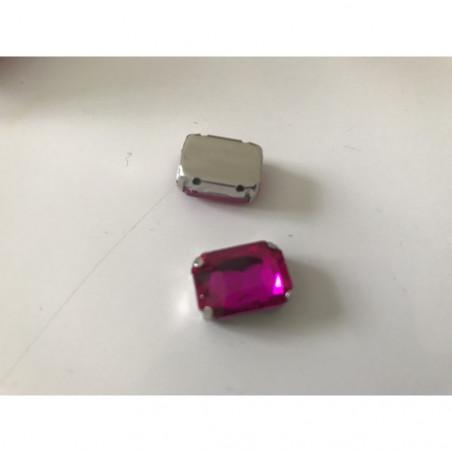 strass sertie en cristal rectangle