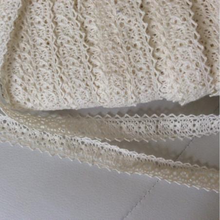 Dentelle entre deux en coton de 2 cm en largeur
