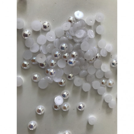 Demi perle blanc 6 mm