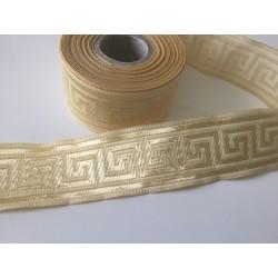 10 m Galon medievale 3,5 cm beige