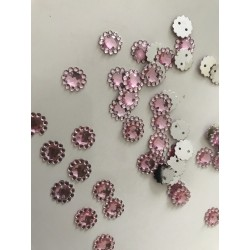 Strass rose a coudre
