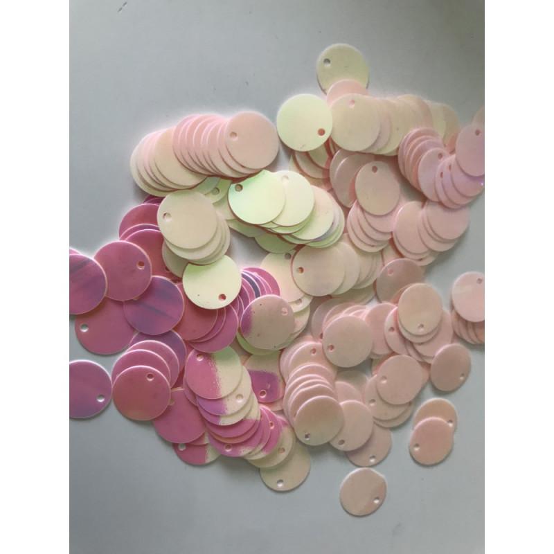 Sequin rose pale
