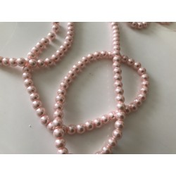 Perle rose nacré 8 mm