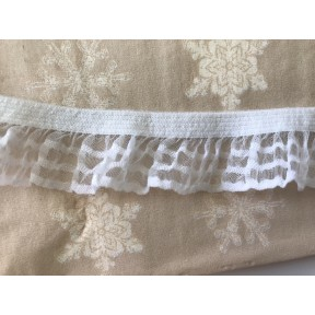 Ruban elastique froufrou blanc