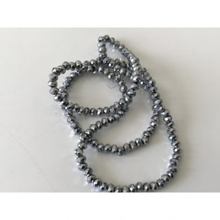 Perle en cristal à facette 4 mm