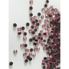 Strass rose en cristal 3 mm