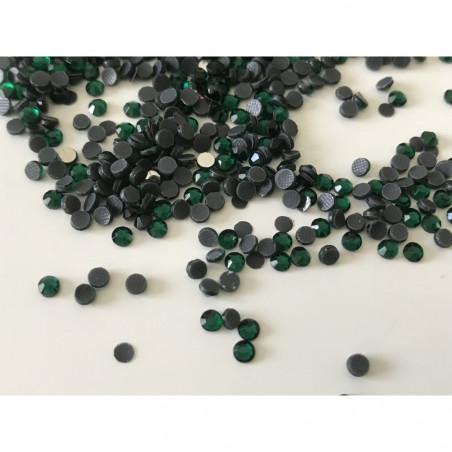 Strass vert émeraude en cristal 3 mm