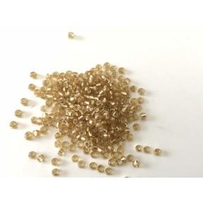 Perle de rocaille dorée