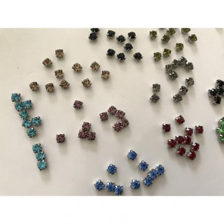 Lot de 160 strass serties en cristal de 5 mm