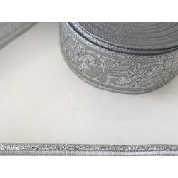 Galon medieval argenté    3,5 cm