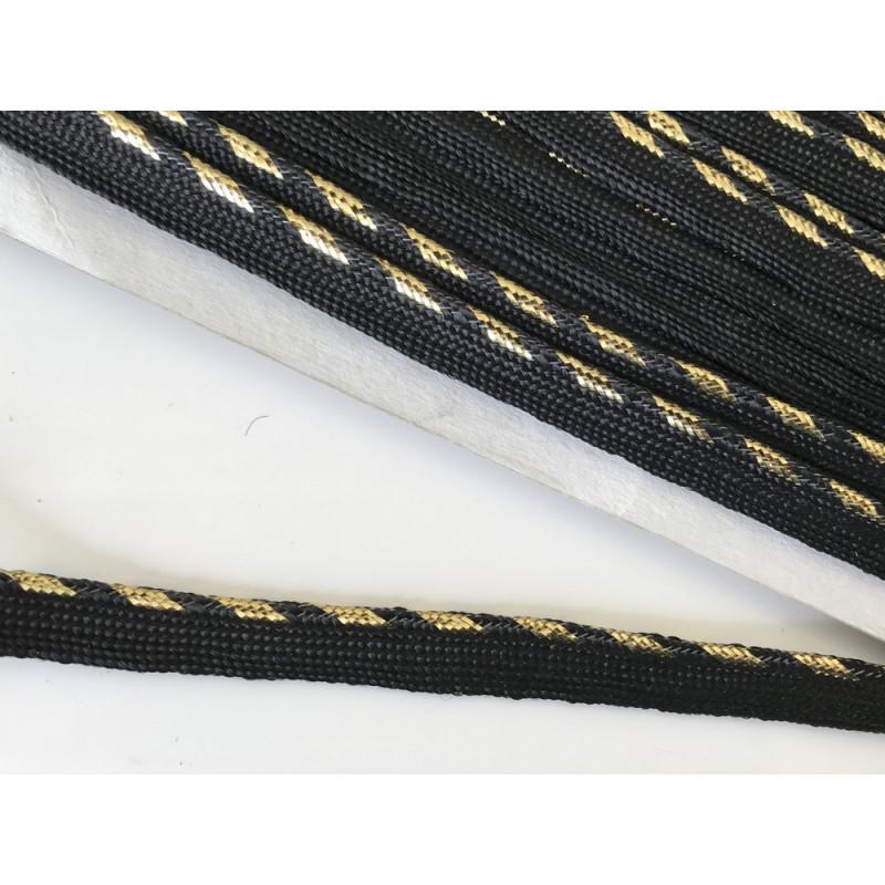 Passepoil doré  et noir
