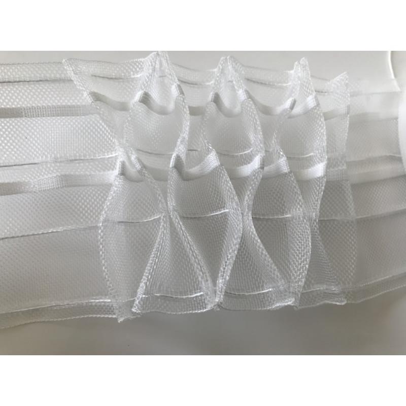 Galon fronceur transparent 10 cm de largeur
