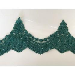 Dentelle vert émeraude