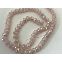Perle en cristal à facette de 8 mm rose poudre