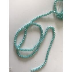 Perle en cristal à facette 3 mm vert d eau