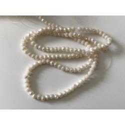 Perle en cristal à facette beige 3 mm