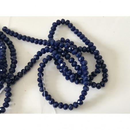 Perle en cristal à facette 4 mm bleu