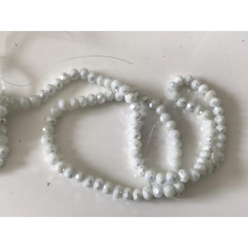 Perle en cristal 6 mm blanc