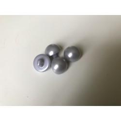 Bouton nacré 10 mm gris