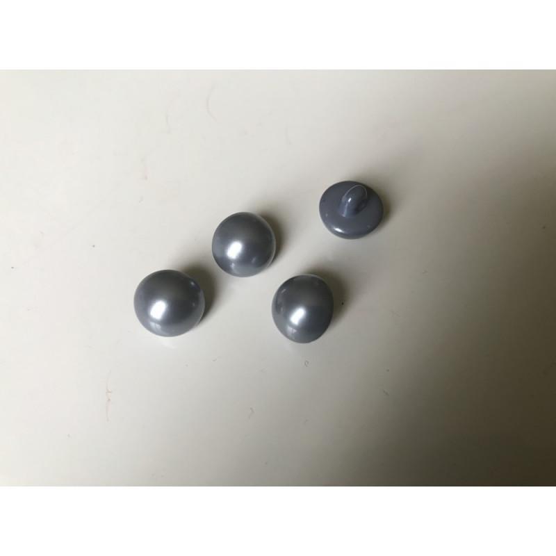 Bouton nacré 10 mm gris foncé