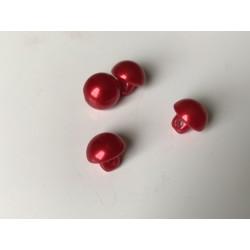 Bouton nacré 8 mm rouge